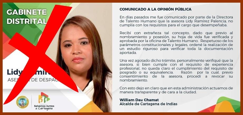 'Tropiezo' de Lidy Ramírez, ¿con consecuencias políticas o administrativas?