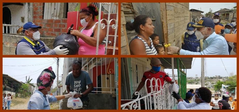 El Distrito informa cómo se entregan las ayudas humanitarias en los barrios de la ciudad