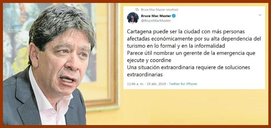 Proponen -otra vez – nombrar un gerente que enfrente la crisis del Covid-19 en Cartagena