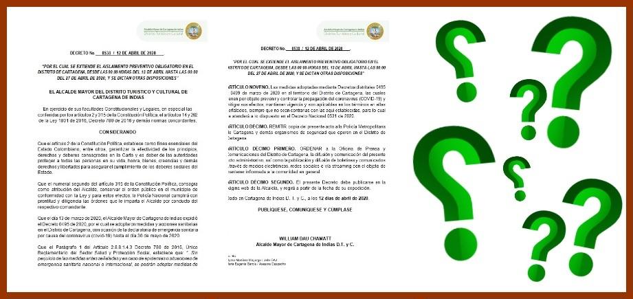 Decreto de pico, cédula y género en Cartagena, con más inquietudes que certezas