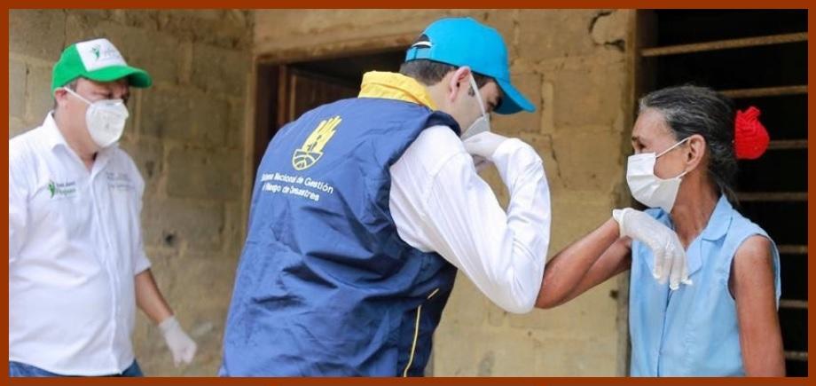 Gobernación y Ungrd entregan auxilios alimentarios en San Juan y San Jacinto