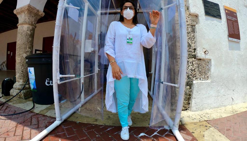 Acuacar dona cámara de desinfección al Distrito para evitar propagación del Covid-19