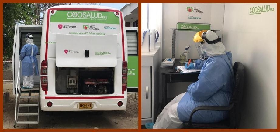 Coosalud traslada su unidad móvil al barrio con más contagios en Cartagena