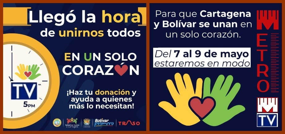 Desde hoy: a dos manos y un solo corazón, todos… ¡por Cartagena y Bolívar!
