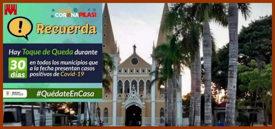 Así funciona el toque de queda en los municipios de Bolívar con casos de Covid-19