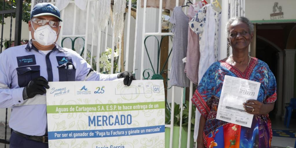 Acuacar realizó el quinto sorteo de mercados para premiar a los usuarios buena paga