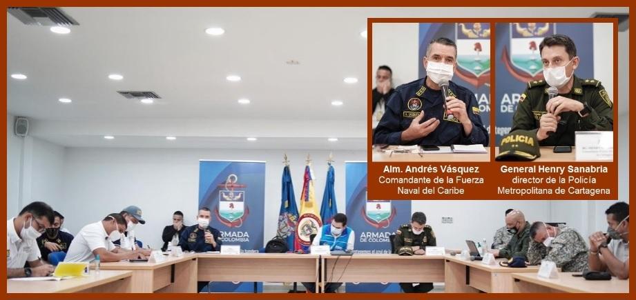 Autoridades acuerdan realizar más patrullajes en las zonas críticas de Cartagena