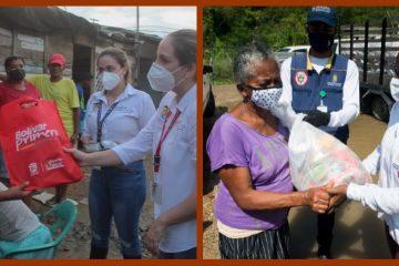 Gobernación de Bolívar y Alcaldía de Cartagena continúan entregando ayudas a damnificados
