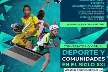 Ider y UdeC invitan a participar en el conversatorio 'Deporte y Comunidades en el Siglo XXI'