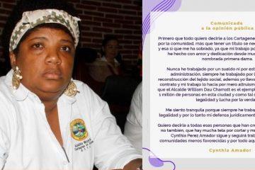 Comunicado de Cynthia Pérez podría enredar a otros funcionarios