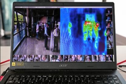Inician operación cámaras infrarrojas que toman temperatura en el aeropuerto Rafael Núñez