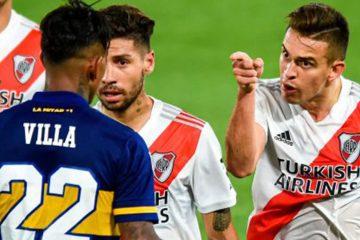 Con goles de Borré y Villa, Boca Juniors y River Plate sellaron un vibrante 2 a 2