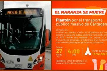 """Del """"Alcalde, no deje morir a Transcaribe"""" al «El naranja se mueve»"""