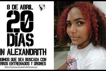 «No descansaremos hasta que encontremos a Alexandrith»: mujeres de Bolívar