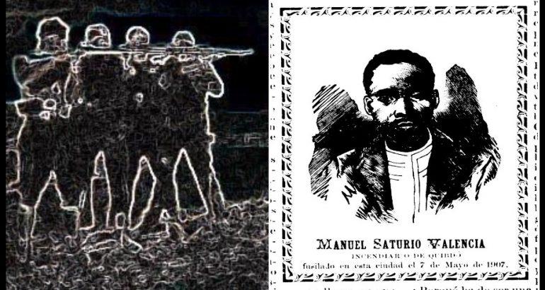 Manuel Saturio Valencia: ¿fusilado por anarquista?