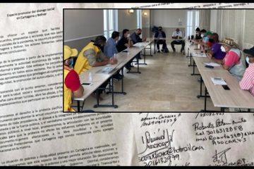 Se abre paso a un proceso de 'diálogo social' en Cartagena