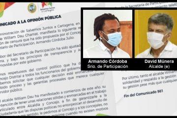 «Esperamos que gestión (de Armando Córdoba) pese más que cualquier revanchismo político»: gabinete