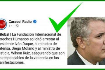 La FIDH sí solicitó a los tribunales internacionales capturar al presidente Duque, pero…