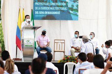 Gobernador Blel inspecciona lote donde se construirá sede del Sena en Magangué