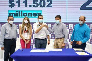Gobernador Blel firmó la ejecución dedos proyectos de ciencia e innovación para Bolívar