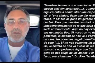 Angustioso S.O.S. del Doctor Álex Tejada… ¿se rompió el silencio en torno de la administración Dau?