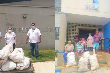 Gobernador Blel dona bultos de ñame a centros de protección del adulto mayor en Cartagena y Turbaco