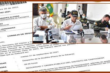 Distrito, Policía, Fuerza Naval, Fiscalía y Procuraduría, a revisar con lupa qué pasa en Cartagena en materia de seguridad